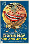 Movie Posters:Comedy, Up and at 'Em (FBO, 1922). Folded, Very Fine. One ...