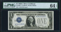 Small Size:Silver Certificates, Fr. 1601* $1 1928A Silver Certificate Star. PMG Choice Uncirculated 64 EPQ.. ...