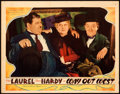 Movie Posters:Comedy, Way Out West (MGM, 1937). Very Fine-. Lobby Card (...