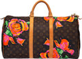 """Luxury Accessories:Bags, Louis Vuitton x Stephen Sprouse Limited Edition """"Roses"""" Monogram Coated Canvas Keepall Bandouliere 50 Bag. Condition: 3..."""