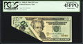 Error Notes:Foldovers, Printed Foldover. Fr. 2089-D $20 2004 Federal Reserve Note. PCGS Extremely Fine 45PPQ.. ...
