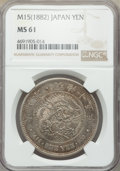 Japan, Japan: Meiji Yen Year 15 (1882) MS61 NGC,...