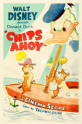 Movie Posters:Animation, Donald Duck in Chips Ahoy (RKO, 1956). Very Fine- on Linen...