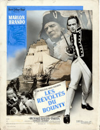 """Mutiny on the Bounty (MGM, 1962). Fine. French Original Mixed Media Composite Artwork on Illustration Board (15"""" X..."""