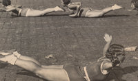 Alexander Rodchenko (Russian, 1891-1956) Rhythmic Gymnasts on Red Square, 1936 Gelatin silver, circa