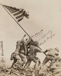 Photographs, Joe Rosenthal (American, 1911-2006). Raising the Flag on Mt. Suribachi, Iwo Jima, 1945. Gelatin silver. 9-1/4 x 7-3/8 in...