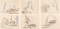 Animation Art:Production Drawing, Donald Duck Original Storyboards Group of 14 (Walt Disney, c.1930s).. ... (Total: 14 Original Art)