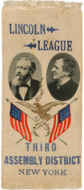 Political:Ribbons & Badges, Harrison & Morton: Jugate Ribbon with New York City Overprint.. ...