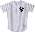 Baseball Collectibles:Uniforms, 2015 Brian McCann Game Worn New York Yankees Jersey MLB Authentic. ...