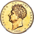 Great Britain, Great Britain: George IV gold Proof 5 Pounds 1826 PR61 Cameo NGC,...