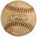 Autographs:Baseballs, 1944 New York Giants Team Signed Baseball (26 Signatures)....