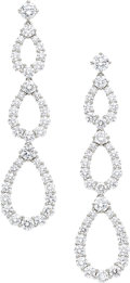 Estate Jewelry:Earrings, Diamond, Platinum Earrings, Harry Winston. ...