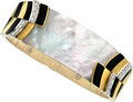 Estate Jewelry:Bracelets, Diamond, Mother-of-Pearl, Enamel, Gold Bracelet, Van Cleef & Arpels . ...