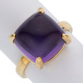 Estate Jewelry:Rings, Amethyst, Gold Ring, Paloma Picasso for Tiffany & Co. . ...