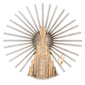 Estate Jewelry:Brooches - Pins, Diamond, Gold, Sterling Silver Brooch, Erté. ...