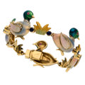 Estate Jewelry:Bracelets, Diamond, Sapphire, Ruby, Enamel, Gold Bracelet . ...