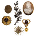 Estate Jewelry:Lots, Antique Diamond, Multi-Stone, Seed Pearl, Gold, Silver-Topped Gold, Yellow Metal Jewelry. ... (Total: 6 Items)