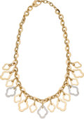 Estate Jewelry:Necklaces, Diamond, Gold Necklace, David Morris. ...