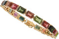 Estate Jewelry:Bracelets, Tourmaline, Gold Bracelet. ...