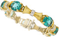 Estate Jewelry:Bracelets, Tourmaline, Diamond, Platinum, Gold Bracelet . ...