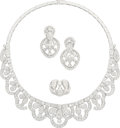 Estate Jewelry:Suites, Diamond, White Gold Jewelry Suite, Andreoeli. ...
