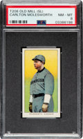 Baseball Cards:Singles (Pre-1930), 1909-11 T206 Old Mill Carlton Molesworth PSA NM-MT 8 - Pop Two, One Higher for Brand. ...