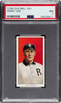 Baseball Cards:Singles (Pre-1930), 1909-11 T206 Old Mill Perry Lipe PSA NM 7 - Pop Two, Two Higher for Brand. ...