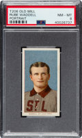 Baseball Cards:Singles (Pre-1930), 1909-11 T206 Old Mill Rube Waddell (Portrait) PSA NM-MT 8 - Pop two, None Higher for Brand. ...