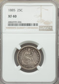 1885 25C XF40 NGC. NGC Census: (2/78). PCGS Population: (5/133). CDN: $350 Whsle. Bid for problem-free NGC/PCGS XF40. Mi...