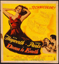 "Movie Posters:Musical, Down to Earth (Columbia, 1947). Fine-. Trimmed Window Card (14"" X 15.25""). Musical.. ..."