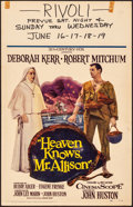"""Movie Posters:Drama, Heaven Knows, Mr. Allison & Other Lot (20th Century Fox, 1957).Overall: Fine/Very Fine. Window Cards (2) (14"""" X 22"""")..."""