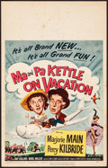 """Movie Posters:Comedy, Ma and Pa Kettle on Vacation (Universal International, 1953).Fine+. Window Card (14"""" X 22""""). Comedy.. ..."""