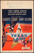 """Movie Posters:Western, Texas Lady & Other Lot (RKO, 1955). Fine/Very Fine. WindowCards (2) (14"""" X 22""""). Western.. ... (Total: 2 Items)"""