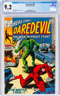 Silver Age (1956-1969):Superhero, Daredevil #50 (Marvel, 1969) CGC NM- 9.2 White pages....