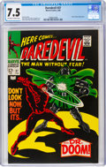 Silver Age (1956-1969):Superhero, Daredevil #37 (Marvel, 1968) CGC VF- 7.5 Off-white to white pages....