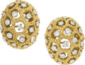 Estate Jewelry:Earrings, Diamond, Platinum, Gold Earrings, Georges L'Enfant for Tiffany & Co., French. ...