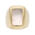 Estate Jewelry:Rings, Mother-of-Pearl, Gold Ring, Van Cleef & Arpels, French. ...