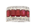 Estate Jewelry:Rings, Burma Ruby, Ruby, Diamond, White Gold Ring. ...