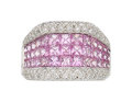 Estate Jewelry:Rings, Pink Sapphire, Diamond, White Gold Ring . ...