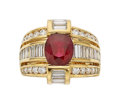 Estate Jewelry:Rings, Ruby, Diamond, Gold Ring, Charles Krypell. ...