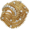 Estate Jewelry:Brooches - Pins, Diamond, Gold Brooch, French. ...