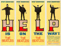 "Movie Posters:Rock and Roll, Help! (United Artists, 1965). Fine on Linen. Door Panel Set of 4 (20"" X 60"" each).. ... (Total: 4 Items)"