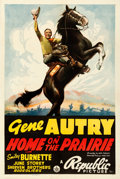 "Movie Posters:Western, Home on the Prairie (Republic, 1939). Very Fine- on Linen. One Sheet (27.5"" X 41"").. ..."