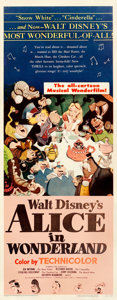 Movie Posters:Animation, Alice in Wonderland (RKO, 1951). Rolled, Fine-. In...