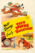 Movie Posters, Goofy in Two Weeks Vacation (RKO, 1952). Very Fine- on Lin...