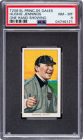 Baseball Cards:Singles (Pre-1930), 1909-11 T206 El Principe De Gales Hughie Jennings (One Hand Showing) PSA NM-MT 8 - Pop One, None Higher for Brand! ...
