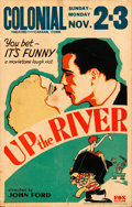 "Movie Posters:Crime, Up the River (Fox, 1930). Fine+. Window Card (14"" ..."