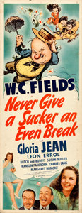 Movie Posters:Comedy, Never Give a Sucker an Even Break (Universal, 1941). Folde...