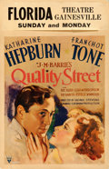 Movie Posters:Drama, Quality Street (RKO, 1937). Fine+ on Cardstock. Wi...