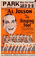 Movie Posters:Musical, The Singing Fool (Warner Brothers, 1927). Fine+. W...